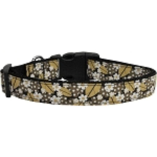 Autumn Leaves Nylon Ribbon Dog Collars