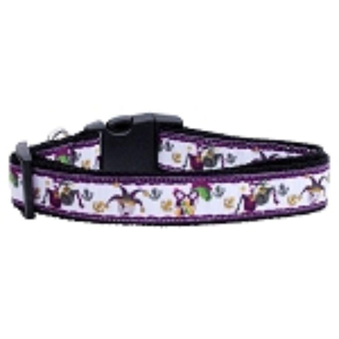 Mardi Gras Nylon Ribbon Dog Collars