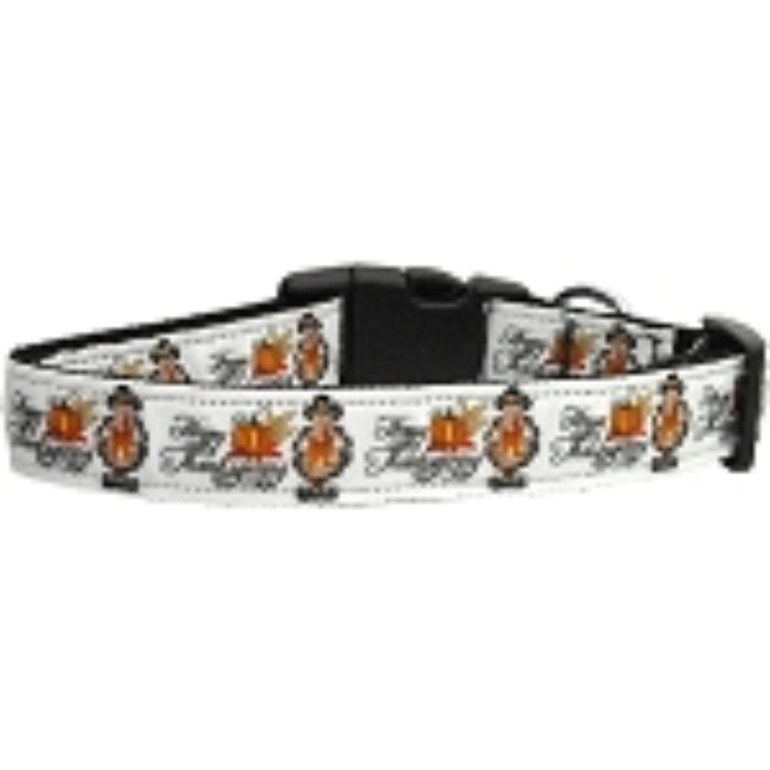 Happy Thanksgiving Nylon Dog Collar