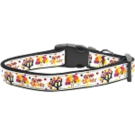Give Thanks Nylon Dog Collar