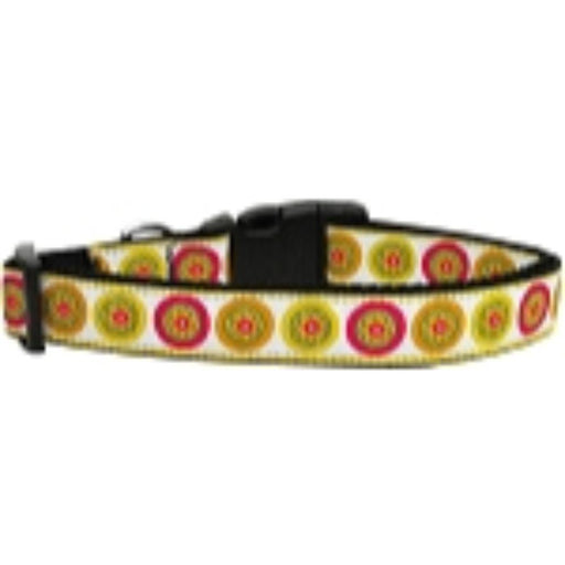 Autumn Daisies Nylon Dog Collar