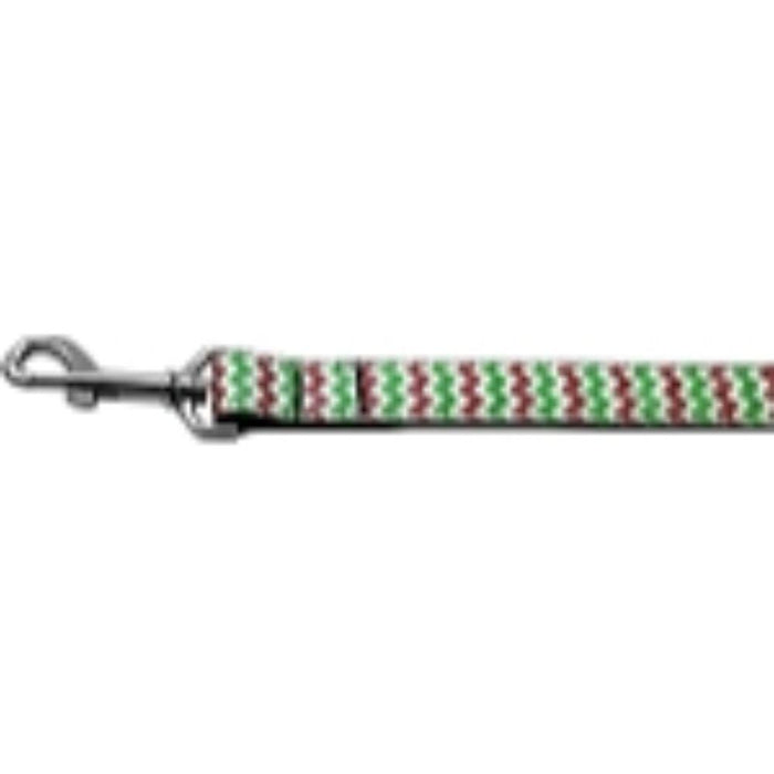Christmas Sparkle Chevron Nylon Dog Leashes
