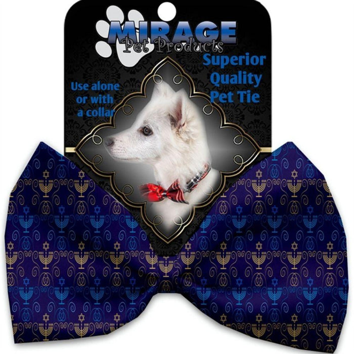 Menorah Madness Pet Bow Tie Collar Accessory with Velcro