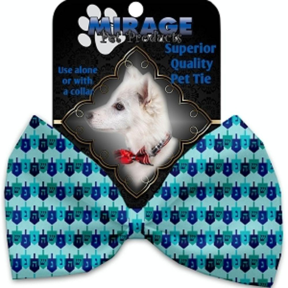 Dreidel, Dreidel, Dreidel Pet Bow Tie Collar Accessory with Velcro