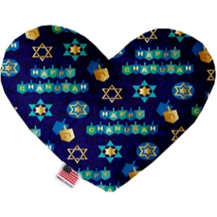 Chanukah Bliss Stuffing Free Heart Dog Toy