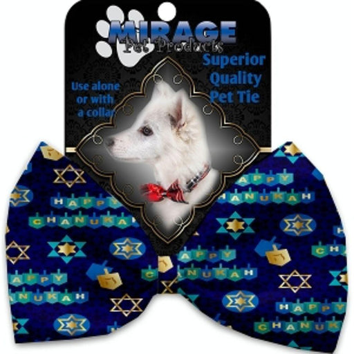 Chanukah Bliss Pet Bow Tie Collar Accessory with Velcro