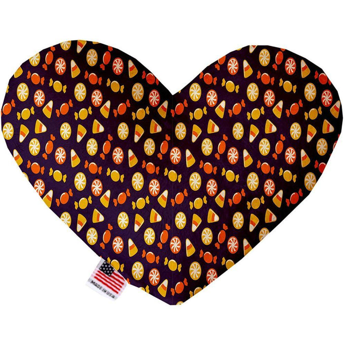 Halloween Candy Confetti Canvas Heart Dog Toy