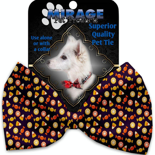 Halloween Candy Confetti Pet Bow Tie Collar Accessory with Velcro