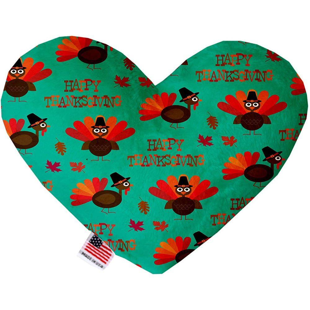 Happy Thanksgiving Stuffing Free Heart Dog Toy
