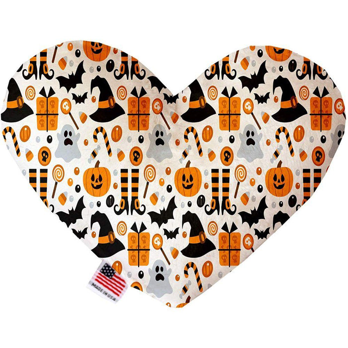 Classic Halloween Stuffing Free Heart Dog Toy