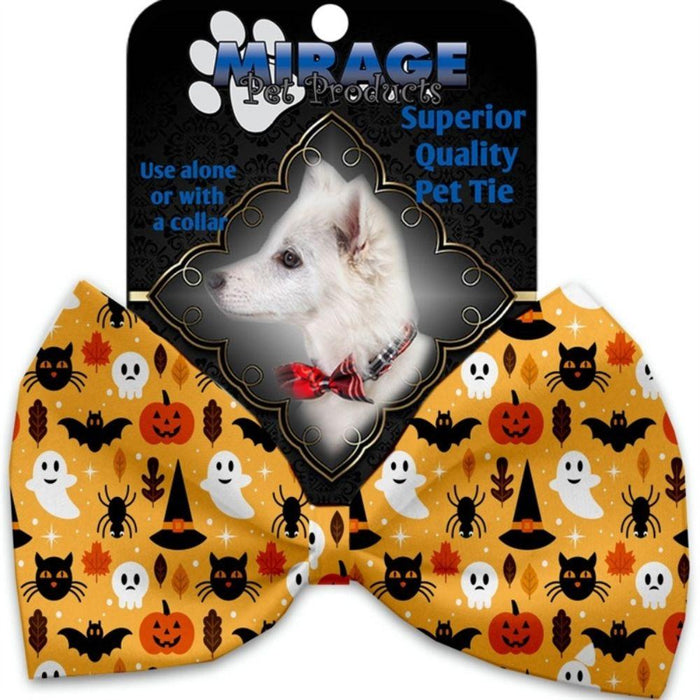 Happy Halloween Pet Bow Tie Collar Accessory with Velcro
