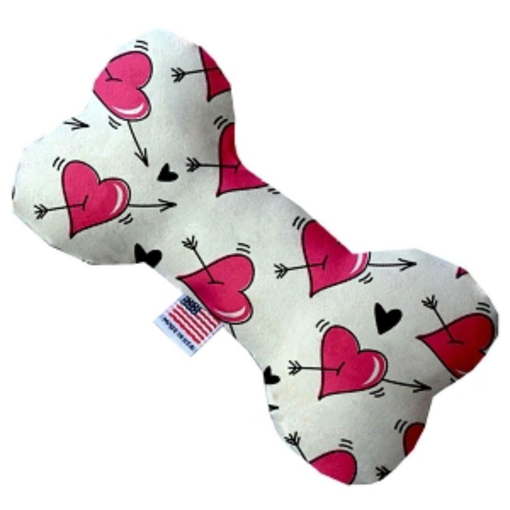Hearts and Arrows Bone Dog Toy