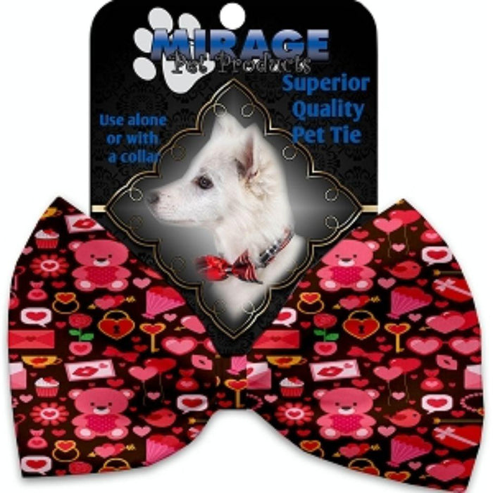 Valentines Day Bears Pet Bow Tie