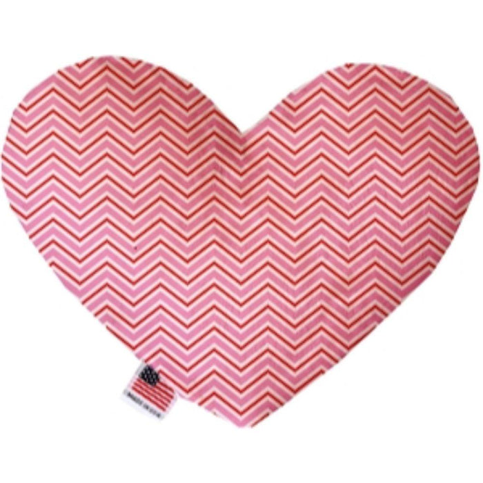 Valentines Day Chevron Stuffing Free Heart Dog Toy