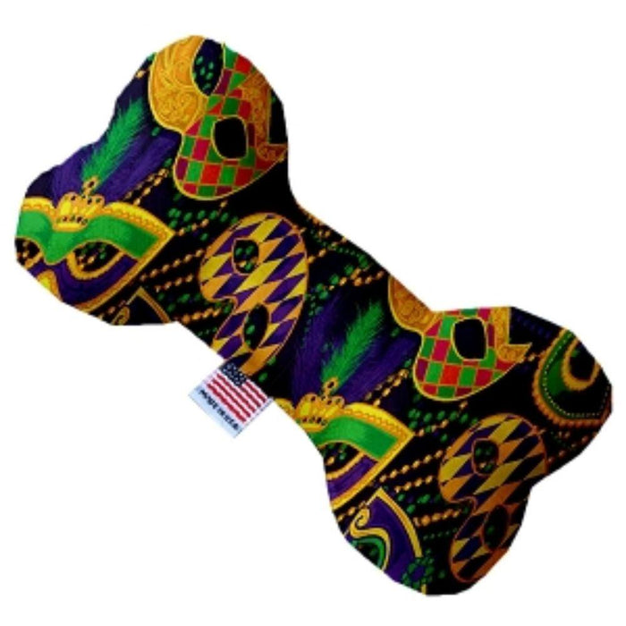 Mardi Gras Masquerade Stuffing Free Bone Dog Toy