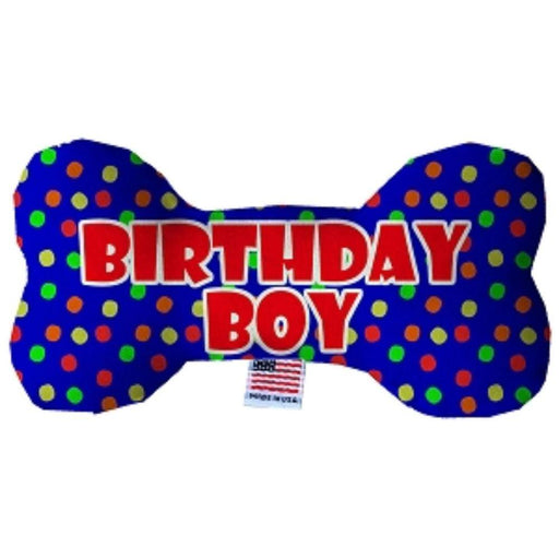 Birthday Boy Fluffy Bone Dog Toy