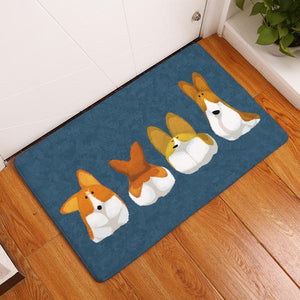 Corgi Anti Slip Foot Waterproof Door Mats
