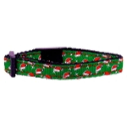 Santa Hat Nylon and Ribbon Collars Cat Safety