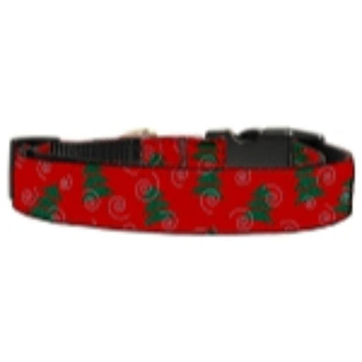 Christmas Trees Nylon and Ribbon Collars