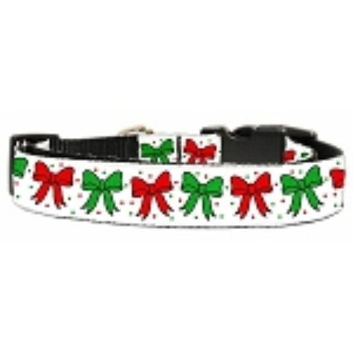 Christmas Bows Nylon Ribbon Collar