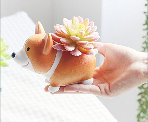 Corgi Home Decoration Succulent Vase Flower Pots