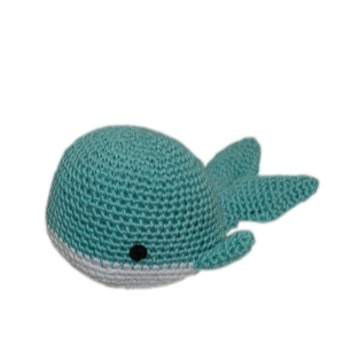 Knit Knacks Whale Organic Cotton Small Dog Toy