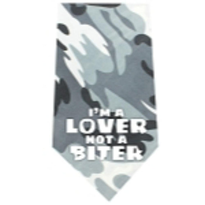 Lover not a Biter Screen Print Bandana
