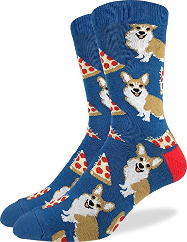 Pizza + Corgi socks