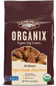 Castor & Pollux Organix Organic Cheddar Cheese Flavor Cookies Dog Treats, 12-oz bag