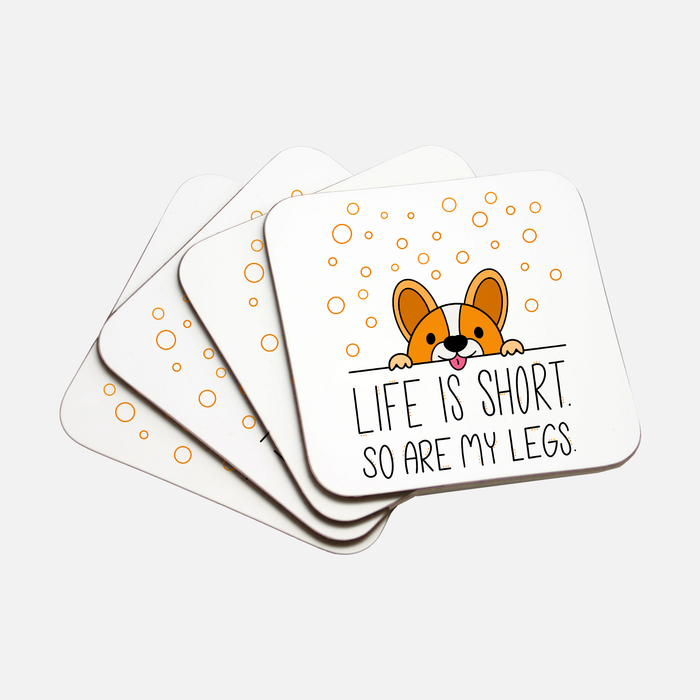 Life Is Short Coaster Hardboard Back