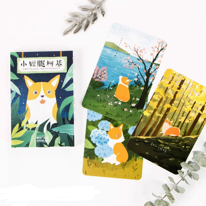 30 Sheets/Pack Japanese style Corgi Postcard, Greeting Card, Christmas and New Year Gifts