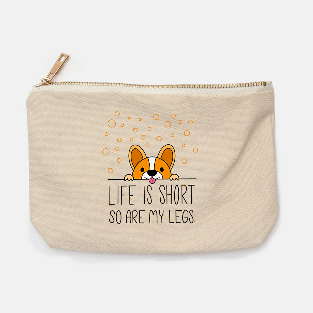 Life Is Short Pencil Bag