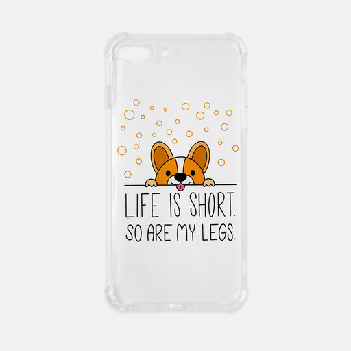 Life Is Short iPhone 8 Plus Clear Case