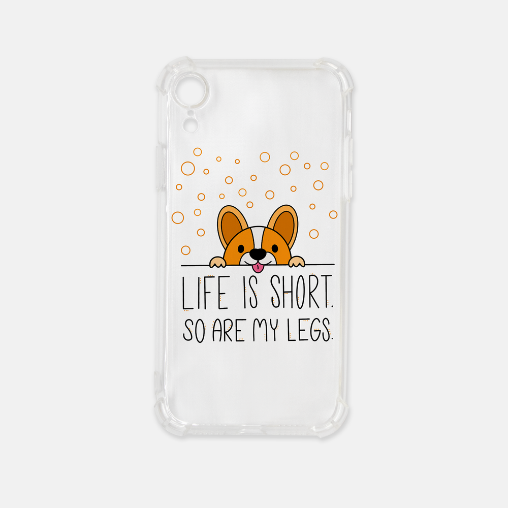 Life Is Short iPhone XR Clear Case