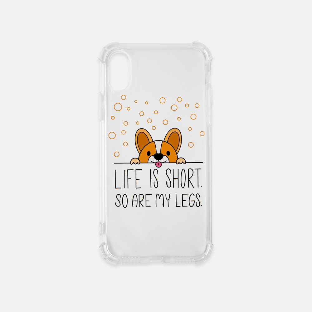 Life Is Short iPhone XS Clear Case