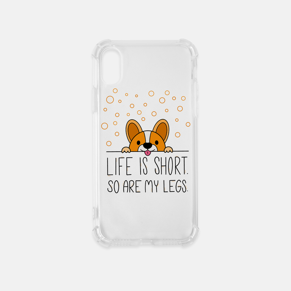 Life Is Short iPhone X Clear Case