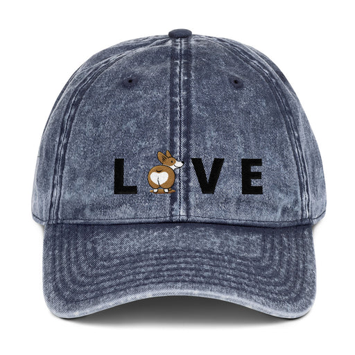 LOVE Corgi Vintage Baseball Hat