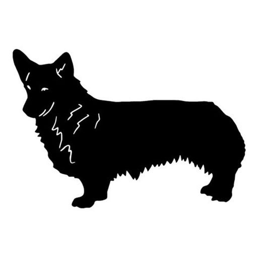 18.5*12.7CM Welsh Corgi Pembroke Stickers Black/Silver