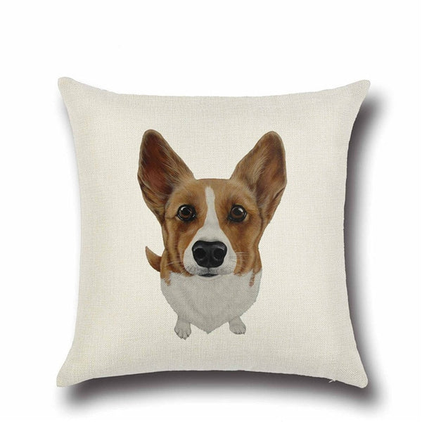 Handmade Corgi and Friends Lined Pillow Covers