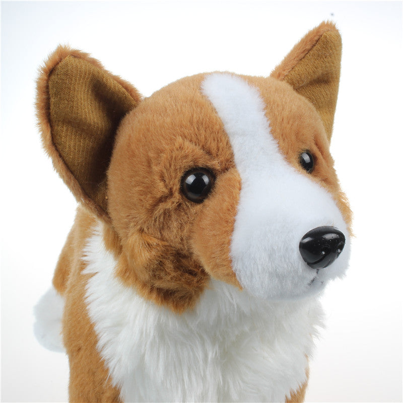 Corgi Doll Plush Dogs Simulation Stuffed 30cm