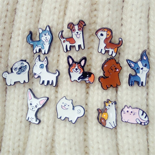 Corgi and Friends Brooches Pins