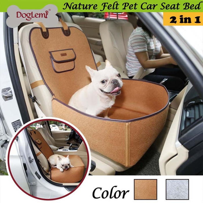 Pet Dog Front Seat Cover Protector for Cars 2 in 1 Carrier for Dogs