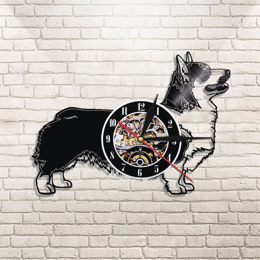 12 inches Cardigan Welsh Corgi Vinyl Wall Clock