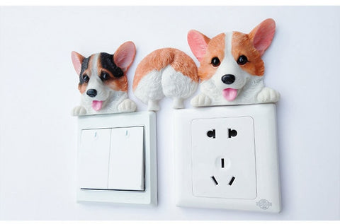 Corgi Sticker Figurine Wall
