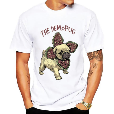 Demon Pug halloween pug t-shirt