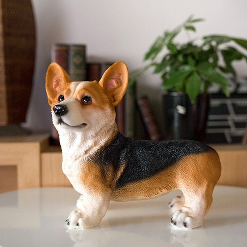 Large Corgi Resin Figurine (Welsh & Tri)