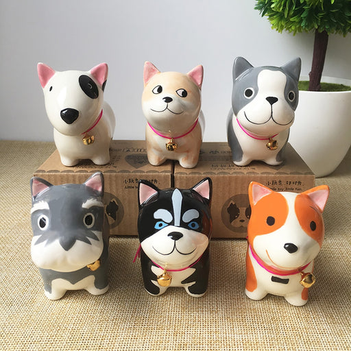 Handmade Ceramic Figurines Corgi and Friends Car Ornament
