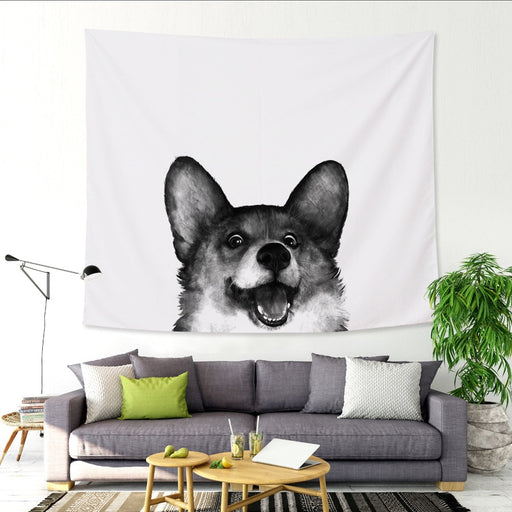 Corgi and Friends Tapestry Wall Hanging
