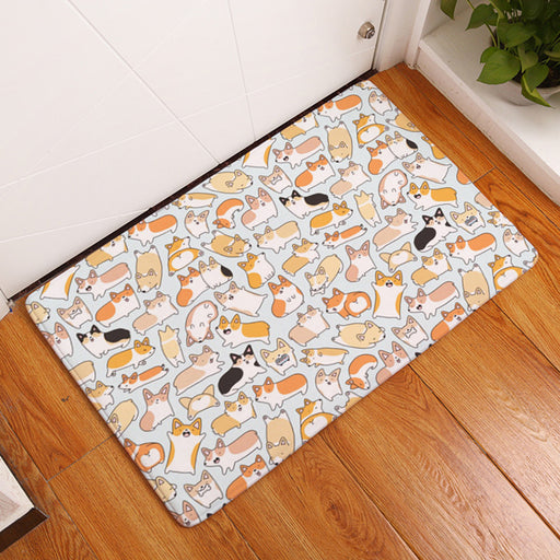 Corgi Anti Slip Foot Waterproof Mats Washable 2 Sizes