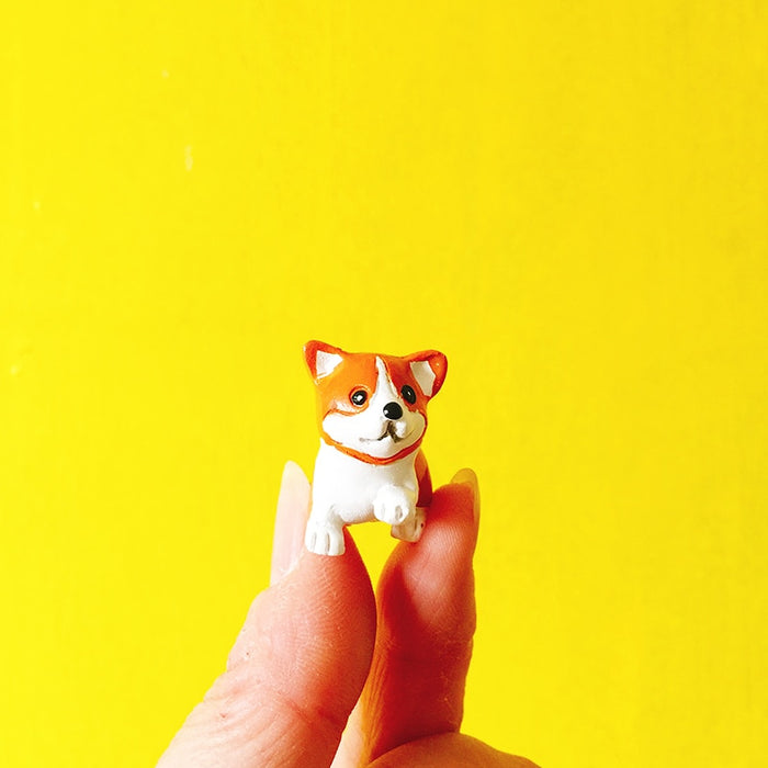 10Pcs Handmade Resin Corgi Gang For Decor